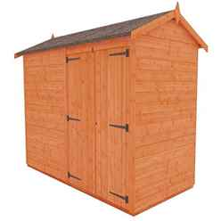 8ft x 4ft Windowless Tongue and Groove Shed with Double Doors (12mm Tongue and Groove Floor and Apex Roof)