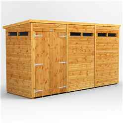 12ft x 4ft Security Tongue and Groove Pent Shed - Double Doors - 6 Windows - 12mm Tongue and Groove Floor and Roof