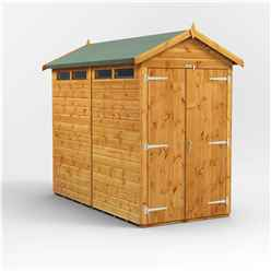 8ft x 4ft Security Tongue and Groove Apex Shed - Double Doors - 4 Windows - 12mm Tongue and Groove Floor and Roof