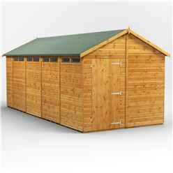 18ft x 8ft  Security Tongue and Groove Apex Shed - Single Door - 8 Windows - 12mm Tongue and Groove Floor and Roof