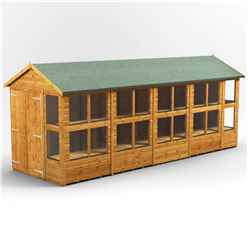 20ft x 6ft Premium Tongue and Groove Apex Potting Shed - Double Doors - 24 Windows - 12mm Tongue and Groove Floor and Roof