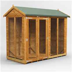 8ft X 4ft Premium Tongue And Groove Apex Summerhouse - Double Door - 12mm Tongue And Groove Floor And Roof