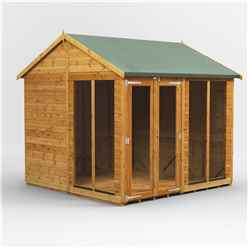 8ft X 8ft Premium Tongue And Groove Apex Summerhouse - Double Doors - 12mm Tongue And Groove Floor And Roof
