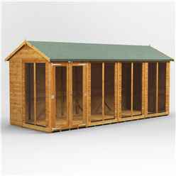 16ft X 6ft Premium Tongue And Groove Apex Summerhouse - Double Doors - 12mm Tongue And Groove Floor And Roof