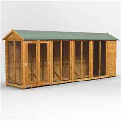 18ft X 4ft Premium Tongue And Groove Apex Summerhouse - Double Doors - 12mm Tongue And Groove Floor And Roof