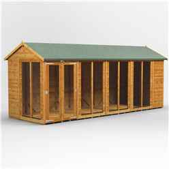 18ft X 8ft Premium Tongue And Groove Apex Summerhouse - Double Doors - 12mm Tongue And Groove Floor And Roof
