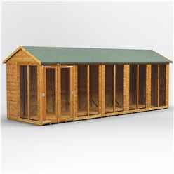 20ft X 6ft Premium Tongue And Groove Apex Summerhouse - Double Doors - 12mm Tongue And Groove Floor And Roof