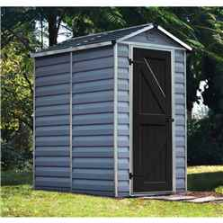 4 X 6 (1.22m x 1.83m) Single Door Apex Plastic Shed With Skylight Roofing