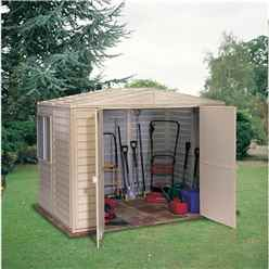 8ft x 6ft Duramax Plastic PVC Shed With Steel Frame (2.39m x 1.60m)