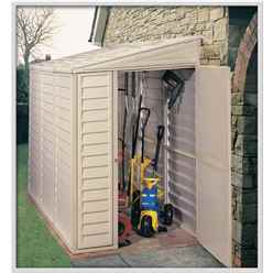 OOS - BACK SEPTEMBER 2021 - 4ft x 8ft Duramax Plastic Sidemate PVC Shed With Steel Frame (1.21m x 2.39m)