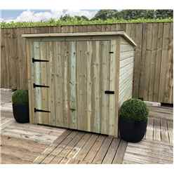 6FTx 4FT Pressure Treated Tongue & Groove Mobility Scooter Store + Single Door (No Floor)