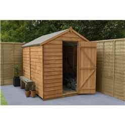 8ft x 6ft (2.4m x 1.9m) Overlap Apex Security Shed With Single Door - Windowless - Modular