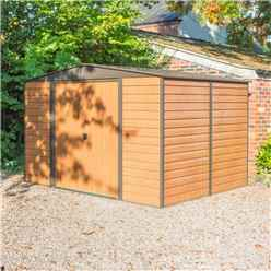10ft x 8ft  Woodvale Metal Sheds (3130mm x 2420mm) INCLUDES FLOOR