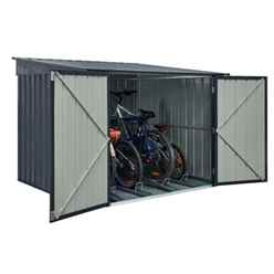 6ft x 6ft Premier EasyFix – Pent – Metal Bike Store -Anthracite Grey (2.11m x 2.00m)