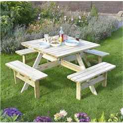 Deluxe Square Picnic Table