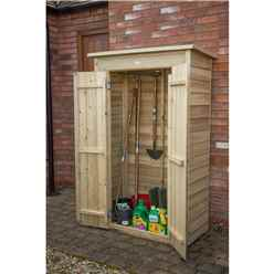 INSTALLED Pressure Treated Overlap Pent Tall Garden Store (178 x 108 x 55 cm) - INSTALLATION INCLUDED