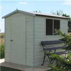 7ft x 5ft (2.09m x 1.49m) - Tongue And Groove - Apex Workshop - 2 Windows - Single Door - 12mm Tongue And Groove Floor and Roof (CORE)