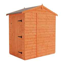 4ft x 6ft Windowless Tongue and Groove Shed (12mm Tongue and Groove Floor and Apex Roof)