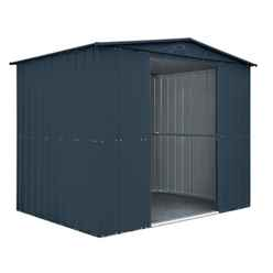 OOS - BACK APRIL 2021 - 8ft x 6ft Premier EasyFix – Apex – Metal Shed -Anthracite Grey (2.45m x 1.85m)