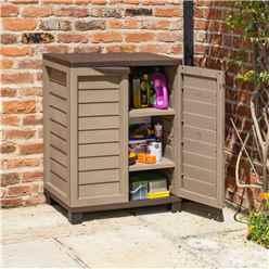 "2'5"" x 1'7"" Mocha Plastic Utility Cabinet  (750mm x 500mm)"