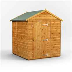 6ft x 6ft Premium Tongue and Groove Apex Shed - Single Door - Windowless - 12mm Tongue and Groove Floor and Roof