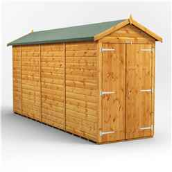 14ft x 4ft Premium Tongue and Groove Apex Shed - Double Doors - Windowless - 12mm Tongue and Groove Floor and Roof