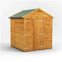6ft x 6ft Premium Tongue and Groove Apex Shed - Double Doors - Windowless - 12mm Tongue and Groove Floor and Roof
