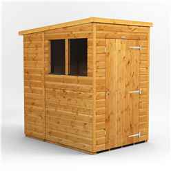 4ft x 6ft  Premium Tongue and Groove Pent Shed - Single Door - 2 Windows - 12mm Tongue and Groove Floor and Roof