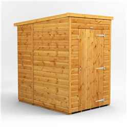 4ft x 6ft  Premium Tongue and Groove Pent Shed - Single Door - Windowless - 12mm Tongue and Groove Floor and Roof