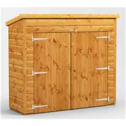 6ft x 2ft  Premium Tongue and Groove Pent Bike Shed - 12mm Tongue and Groove Floor and Roof