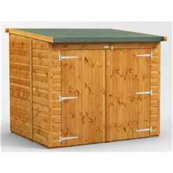 6ft x 5ft  Premium Tongue and Groove Reverse Pent Bike Shed - 12mm Tongue and Groove Floor and Roof