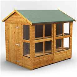 8ft x 6ft Premium Tongue and Groove Apex Potting Shed - Single Door - 12 Windows - 12mm Tongue and Groove Floor and Roof