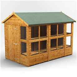 10ft x 6ft Premium Tongue and Groove Apex Potting Shed - Double Doors - 14 Windows - 12mm Tongue and Groove Floor and Roof
