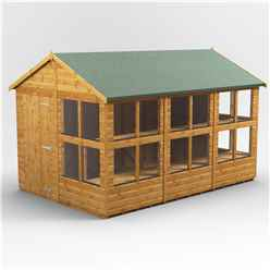 12ft x 6ft Premium Tongue and Groove Apex Potting Shed - Single Door - 16 Windows - 12mm Tongue and Groove Floor and Roof