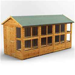 14ft x 6ft Premium Tongue and Groove Apex Potting Shed - Single Door - 18 Windows - 12mm Tongue and Groove Floor and Roof