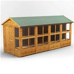 16ft x 6ft Premium Tongue and Groove Apex Potting Shed - Single Door - 20 Windows - 12mm Tongue and Groove Floor and Roof