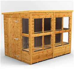 8ft x 6ft Premium Tongue and Groove Pent Potting Shed - Single Door - 12 Windows - 12mm Tongue and Groove Floor and Roof