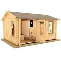 20ft x 14ft Ralph 44mm Log Cabin (19mm Tongue and Groove Floor and Roof) (5950x4150)