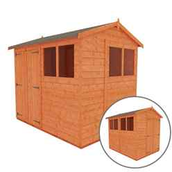 8ft x 6ft Tongue and Groove Shed with Double Doors (12mm Tongue and Groove Floor and Apex Roof)