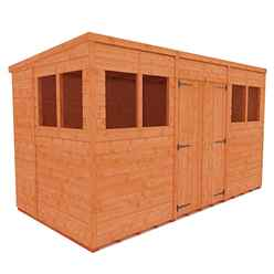 12ft x 6ft Tongue and Groove Pent Shed with Double Doors (12mm Tongue and Groove Floor and Roof)