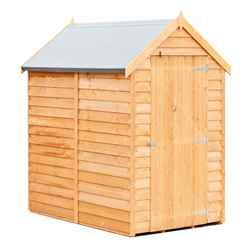 ** FLASH REDUCTION** 6ft x 4ft  (1.83m x 1.20m) - Pressure Treated - Super Value Overlap - Apex Wooden Garden Shed - Windowless - Single Door - 10mm Solid OSB Floor - CORE
