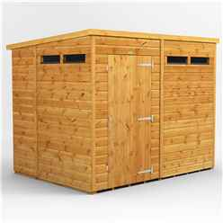 8ft x 6ft Security Tongue and Groove Pent Shed - Single Door - 4 Windows - 12mm Tongue and Groove Floor and Roof