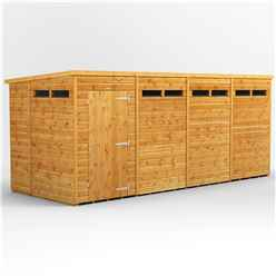 16ft x 6ft Security Tongue and Groove Pent Shed - Single Door - 8 Windows - 12mm Tongue and Groove Floor and Roof