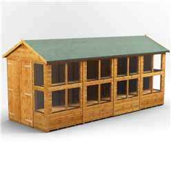 16ft x 6ft Premium Tongue and Groove Apex Potting Shed - Double Doors - 20 Windows - 12mm Tongue and Groove Floor and Roof