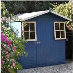 7ft x 7ft (2.05m x 1.98m) - Tongue & Groove - Apex Garden Shed - 2 Windows - Single Door - 12mm Tongue and Groove Floor