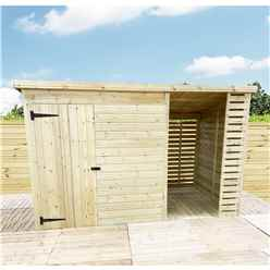 11 X 6 Pressure Treated Tongue And Groove Pent Shed With Storage Area Windowless