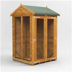 4ft X 4ft Premium Tongue And Groove Apex Summerhouse - Double Doors - 12mm Tongue And Groove Floor And Roof