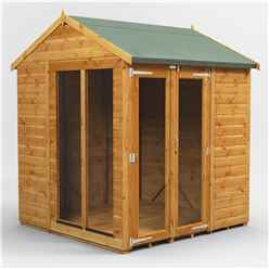 6ft X 6ft Premium Tongue And Groove Apex Summerhouse - Double Doors - 12mm Tongue And Groove Floor And Roof
