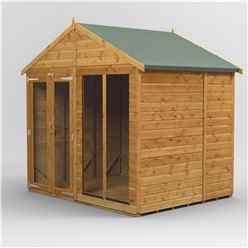 6ft x 8ft Premium Tongue and Groove Apex Summerhouse - Double Doors - 12mm Tongue and Groove Floor and Roof