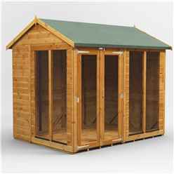 8ft X 6ft Premium Tongue And Groove Apex Summerhouse - Double Doors - 12mm Tongue And Groove Floor And Roof